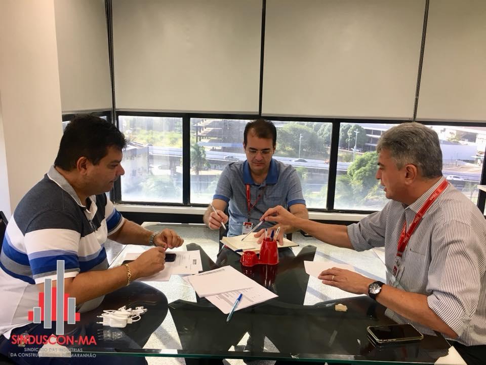Alinhamento institucional entre Sinduscon-MA e FIEMA para realização do Encontro de Fornecedores