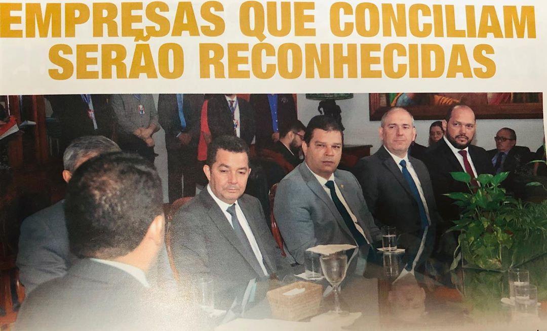 """Sinduscon-MA participa do lançamento do programa """"Empresa Amiga da Justiça""""."""
