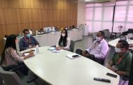 Reunião de alinhamento com o SENAI sobre o projeto Canteiro Escola