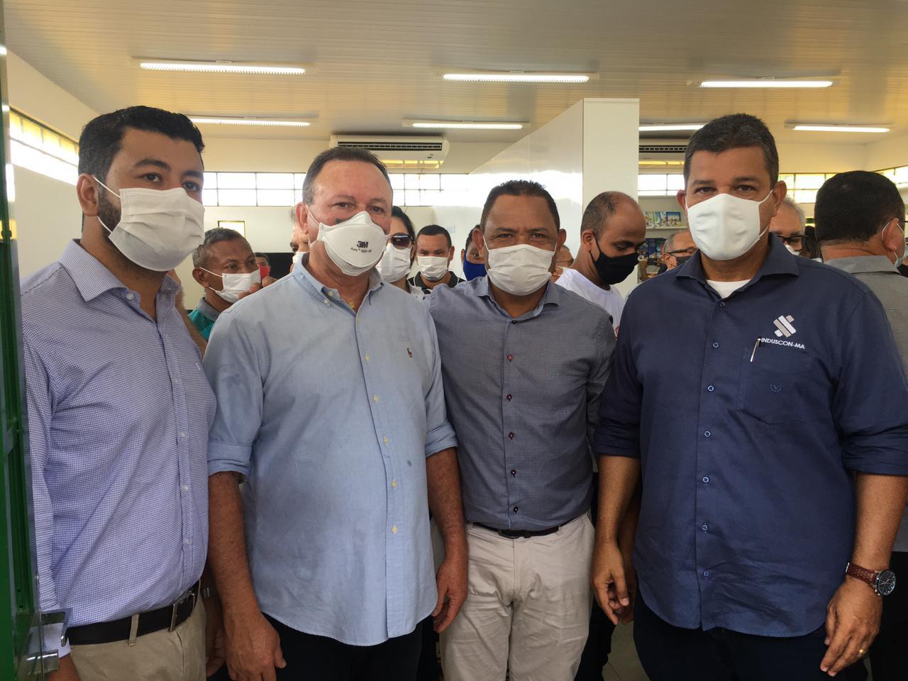 O presidente da FIEMA e diretor regional do SESI, Edilson Baldez das Neves participou no município de Itapecuru-Mirim da entrega de uma unidade da Indústria do Conhecimento.
